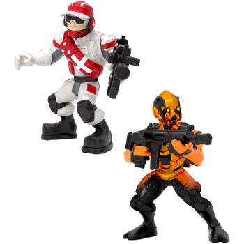 Fortnite Battle Royale Collection Duo Pack: Triage Trooper & Vertex Figures.