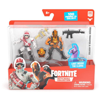 Fortnite Battle Royale Collection Duo Pack: Triage Trooper & Vertex Figures in packaging.