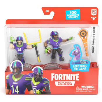 Fortnite Battle Royale Collection Duo Pack: Spike & Strong Guard Figures in packaging.