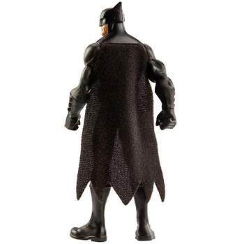 Batman's iconic costume includes fabric cape.