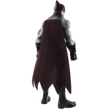 Batman's iconic costume includes a fabric cape.