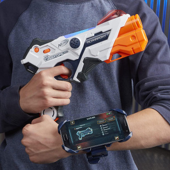 Includes two armbands to hold smart device (not included) on your arm while you're battling (Note: Armbands do not protect mobile device)