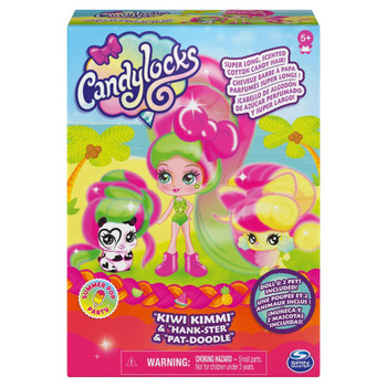 Candylocks KIWI KIMMI 3-inch Scented Collectible Doll and 2 Pets in packaging.