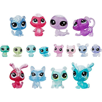 An instant collection of 16 very special pets: In shades of pink, green, blue, and purple - all with glittery deco.