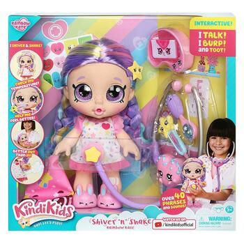 Shiver 'n' Shake Rainbow Kate Interactive 10-inch Toddler Doll in packaging.