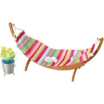Barbie Outdoor Furniture Summer Day Hammock & Kitten Playset.