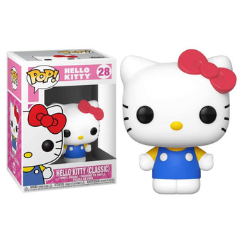 From Sanrio, it's Hello Kitty in her Classic outfit as a stylized Funko Pop! Vinyl figure.