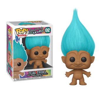 Bring home this Teal Troll Pop! Vinyl collectible by Funko to add a vibrant element to your collection.