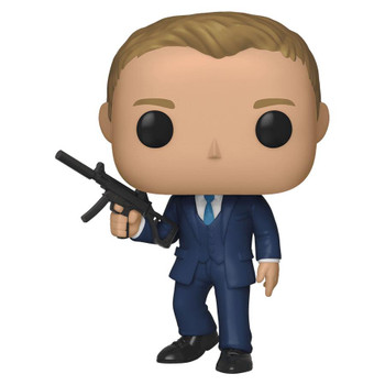 This stylized collectible figure stands 3.75 inches (9 cm) tall, perfect for any James Bond or Daniel Craig fan!