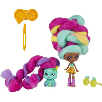 This 2-Pack of beachy besties includes one 3-inch tropical-themed Mina Colada Candylocks Doll and her adorable pet BFF Grizz!