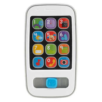 The Fisher-Price Laugh & Learn Smart Phone is a musical infant toy phone with 30+ sing-along songs, sounds and phrases that teach numbers, counting, greetings and more.