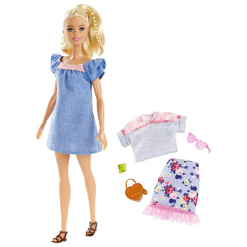 Mix and match to explore style and storytelling with Barbie doll -- she comes with an additional outfit and accessories for versatility and fun!
