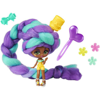 With 15 inches of ombré hair wrapped around the doll, it's a surprise who is hidden inside every pack.