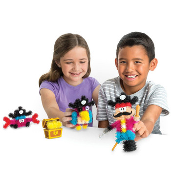 You can squish, connect, and create a one-legged pirate and choose to build the parrot sidekick or a cute crab!