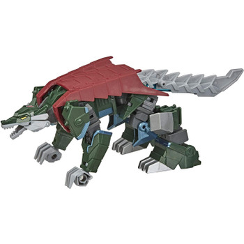 2-in-1 Converting Toy: Easy Transformers conversion for children aged 6 and up. Convert Thunderhowl toy from wolf to robot mode in 13 steps.