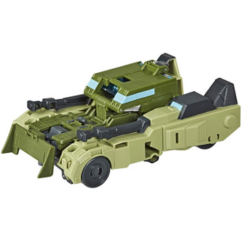 2-in-1 Converting Toy: Easy Transformers conversion for children aged 6 and up. Convert Rack'N'Ruin toy from armoured car to robot mode in 11 steps.