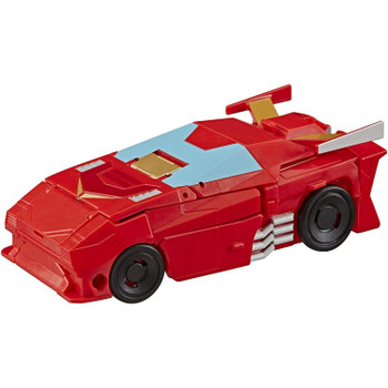 2-in-1 Converting Toy: Easy Transformers conversion for children aged 6 and up. Convert Hot Rod toy from race car to robot mode in 7 steps.