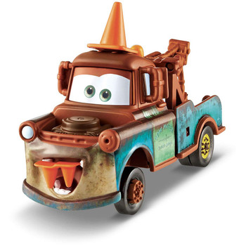 "Disney Pixar Cars MATER WITH CONE TEETH depicts a scene in the Cars short film ""Mater and the Ghostlight""."