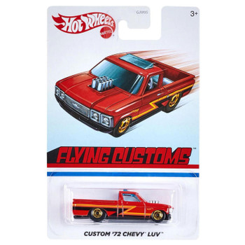 This 1:64 scale Hot Wheels Flying Customs Custom '72 Chevy LUV features realistic details and cool, retro-style packaging.