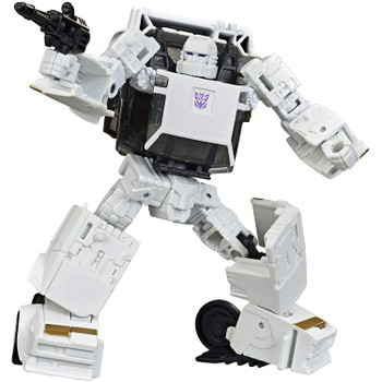 Fans voted and now Runamuck is here! The menacing Deception shock trooper, Runamuck, converts into classic G1 sportscar mode in 16 steps and comes with a blaster accessory that can be mounted on vehicle mode.