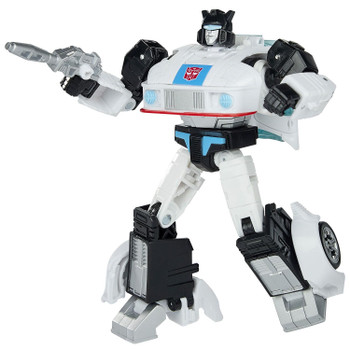 Autobot Jazz figure features vivid, movie-inspired deco, is highly articulated for poseability and comes with a blaster accessory.