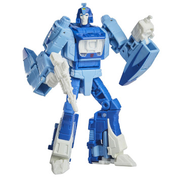 5.5-inch (14 cm) Blurr figure features vivid, movie-inspired deco, is highly articulated for posability and comes with a spark welder hand attachment and blaster accessory.