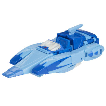 Classic conversion between robot and Cybertronian hovercar modes in 18 steps. Perfect for fans looking for a more advanced converting figure.