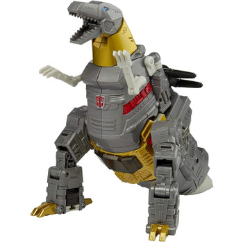 Grimlock figure features classic conversion between robot and t-rex modes in 24 steps. Perfect for fans looking for a more advanced converting figure.