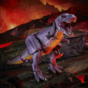 Megatron toy converts from 7.5-inch scale robot into a Beast Wars-inspired T. rex mode in 27 steps.