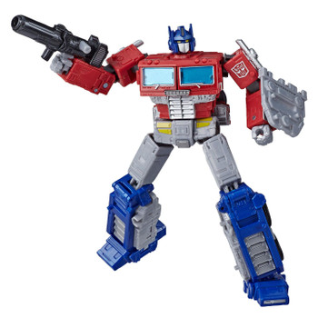 7-inch scale Optimus Prime figure comes with classic G1-inspired Ion Blaster, Matrix of Leadership and truck trailer accessories.