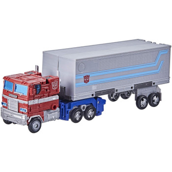 G1-inspired Optimus Prime toy converts into Earth truck mode in 35 steps. Autobots, roll out!