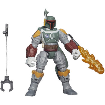 This 6-inch Boba Fett figure features common connection points, allowing you to detach the head, arms, and legs, then reconnect them where you want.