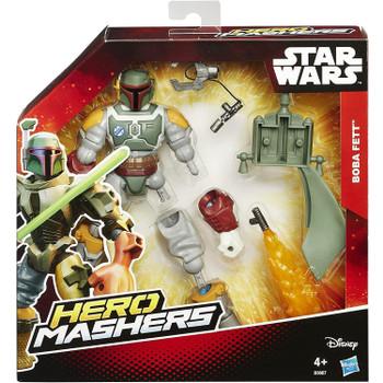 Star Wars Hero Mashers 15cm BOBA FETT Deluxe Action Figure in packaging.
