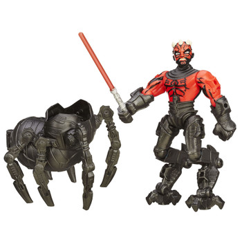 This 6-inch Darth Maul figure features common connection points, allowing you to detach the head, arms, and legs, then reconnect them where you want.