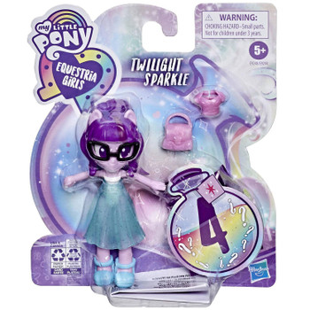 My Little Pony Equestria Girls Fashion Squad TWILIGHT SPARKLE 3.75-Inch Potion Mini Doll in packaging.