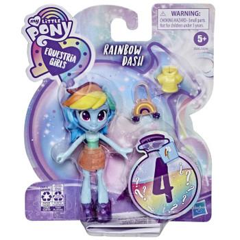My Little Pony Equestria Girls Fashion Squad RAINBOW DASH 3.75-Inch Potion Mini Doll in packaging.