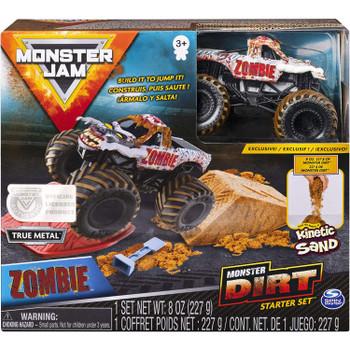 Monster Jam ZOMBIE Monster Dirt Starter Set in packaging.