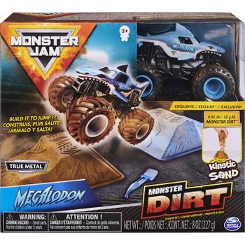 Monster Jam MEGALODON Monster Dirt Starter Set in packaging.