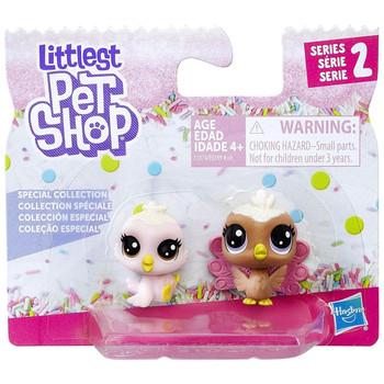 Littlest Pet Shop Frosting Frenzy: Strawberry Birdet & Velvet Peahen 2-Pack [Birds] in packaging.