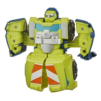 Little heroes can enjoy twice the fun with 2 modes of play, converting this action figure from cement mixer truck to robot and back again.