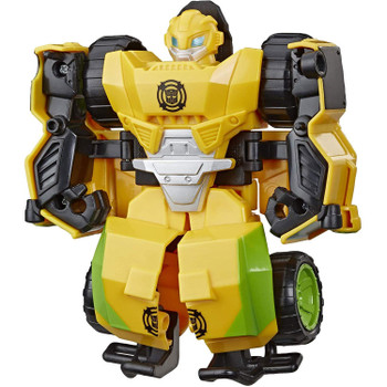 Little heroes can enjoy twice the fun with 2 modes of play, converting this Bumblebee action figure from rock crawler off-road buggy to robot and back again.