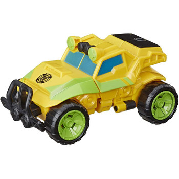 As a rock crawler, Bumblebee is ready to conquer tough terrain to race to the rescue! Kids ages 3 and up can pretend there is a dangerous situation unfolding and convert the brave 4.5-inch Bumblebee action figure from a robot to a vehicle.