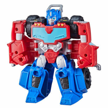 Little heroes can enjoy twice the fun with 2 modes of play, converting this Optimus Prime action figure from all-terrain truck to robot and back again.