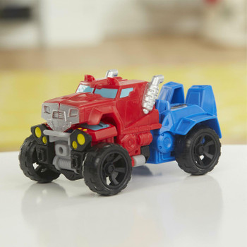As a mighty all-terrain vehicle, Optimus Prime is ready to take to the streets and charge to the rescue!