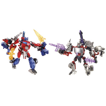 These 2 Construct-Bots come in pieces, and it's up to you to build them both! Use the 135 pieces to build Optimus Prime and Megatron robots.