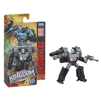 This collectible figure stands at the new Core Class scale and depicts the brutal Decepticon leader, Megatron! The 3.5-inch mini-figure allows fans to collect a mini version of the iconic character to pose out with other Megatron figures at larger scales! (Each sold separately, subject to availability.)