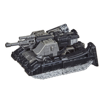 This Core Class Megatron toy converts to his classic Earth tank mode with a swivel turret in 12 steps.