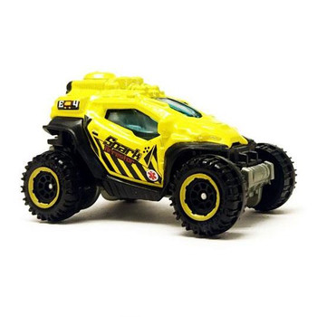 Spark Arrestor all-terrain vehicle of fictional design with a bright yellow deco.