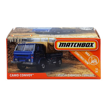 Matchbox Power Grabs CAMO CONVOY 1:64 Scale Die-cast Vehicle in packaging.
