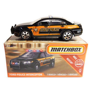 The Matchbox FORD POLICE INTERCEPTOR is #27/30 in the MBX Rescue™ collection.